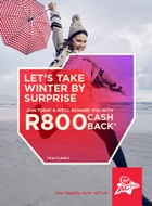 Join Virgin Active now in June and you can get R800 cash back.