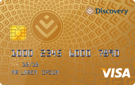Choose the Discovery Card and benefits to suit you